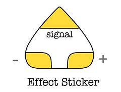 effects circuit sticker