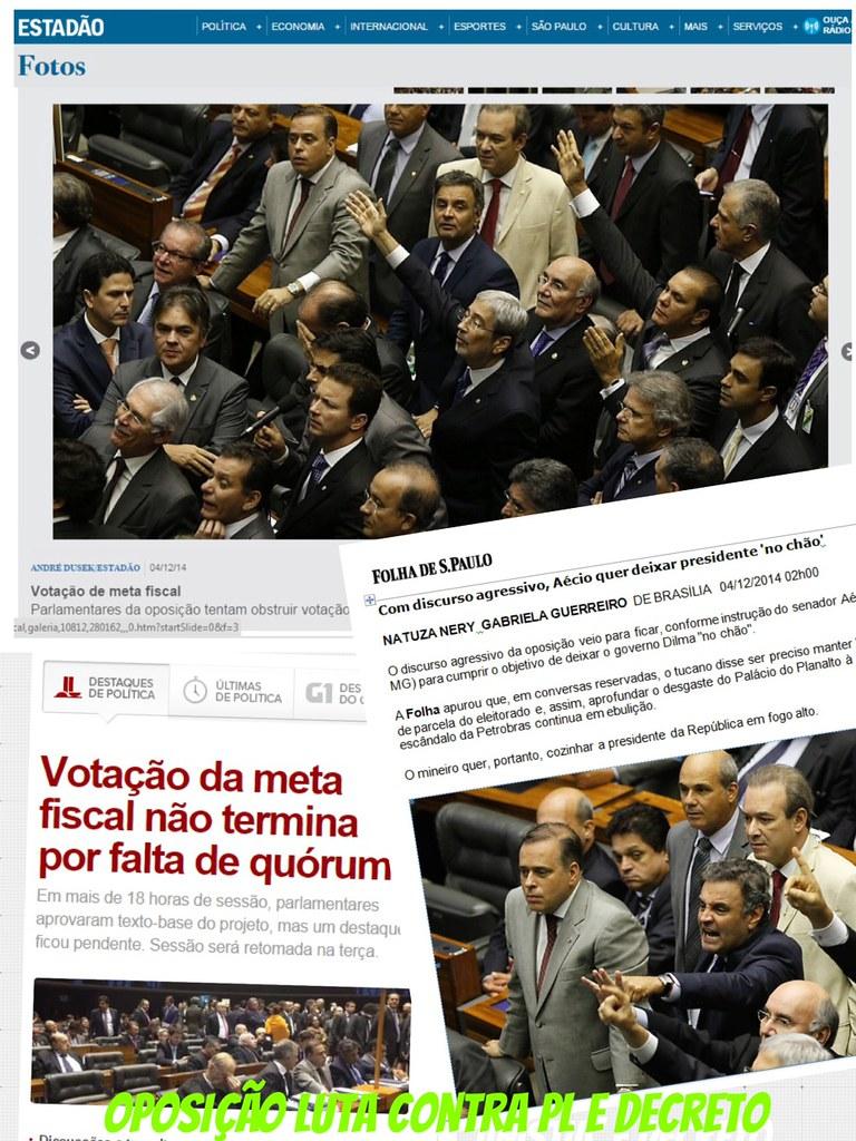 Repercute a luta da Oposição no Congresso 05 12 2014