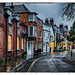 Wet Streets in Winchester by Peter McClintock