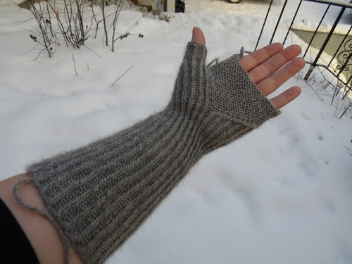 Toast and Jam Fingerless Mitts