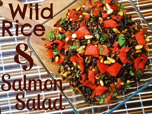 Wild Rice Salmon Salad with Lemon, Parsley and Pine Nuts