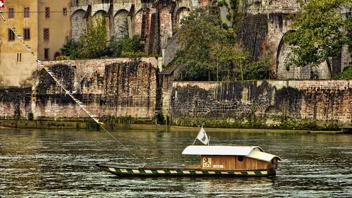 rio ferry river schweiz switzerland suisse suiza basel rhein rin 瑞士 basilea transbordador baslerfähren