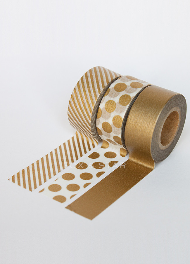 gold maste washi tapes