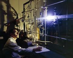 Chemistry Lab--'Life Sci binder; 50213a; Chem Lab; Laboratory test setup of liquid oxygen flow study