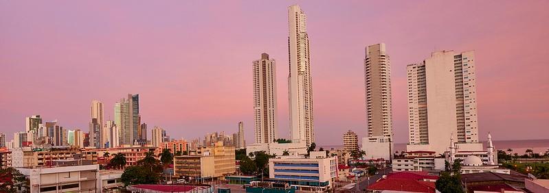 Sunrise over the Skyline of Panama City - Panama