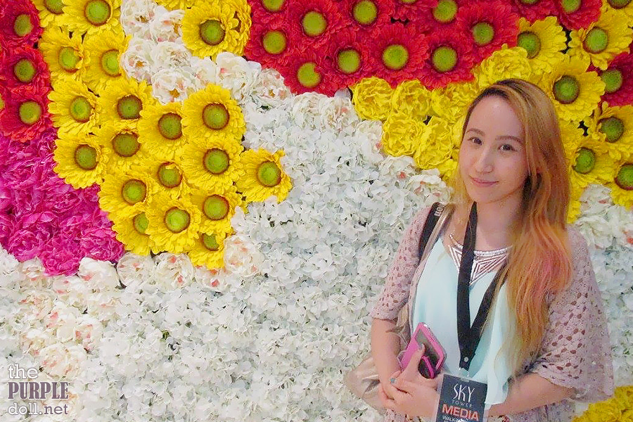 Sumi against the Flower Wall at Solaire's Sky Tower