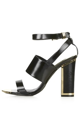 topshop relish metal high sandals black