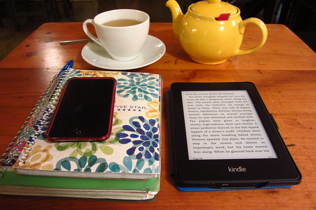My New Kindle at Hi-Rise Bakery, Cambridge