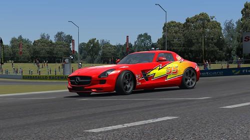 Mercedes SLS AMG Lightning McQueen Assetto Corsa