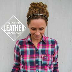 braided leather headband tutorial