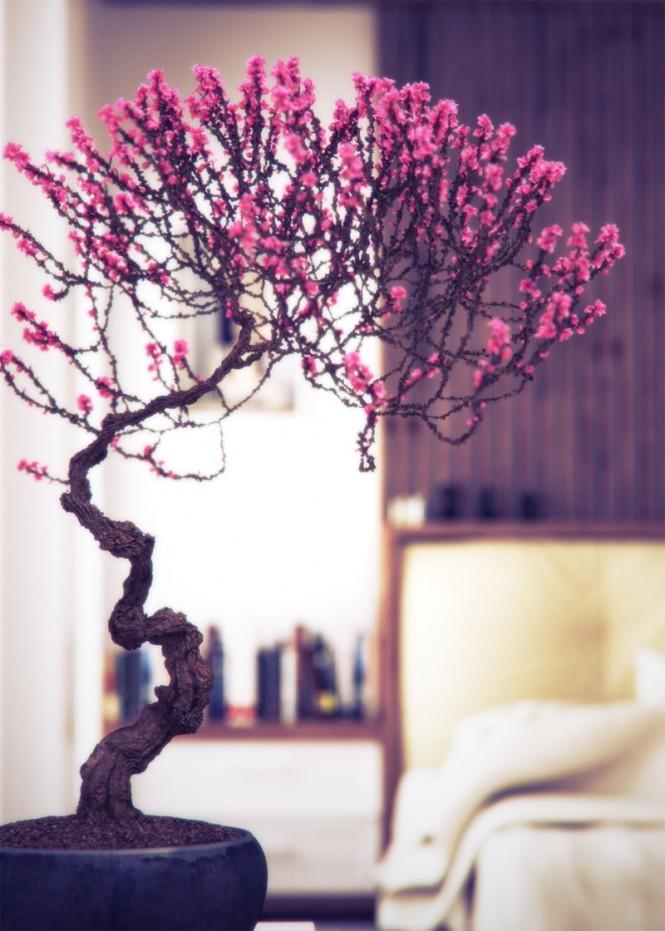Bonsai trong trang trí nội thất