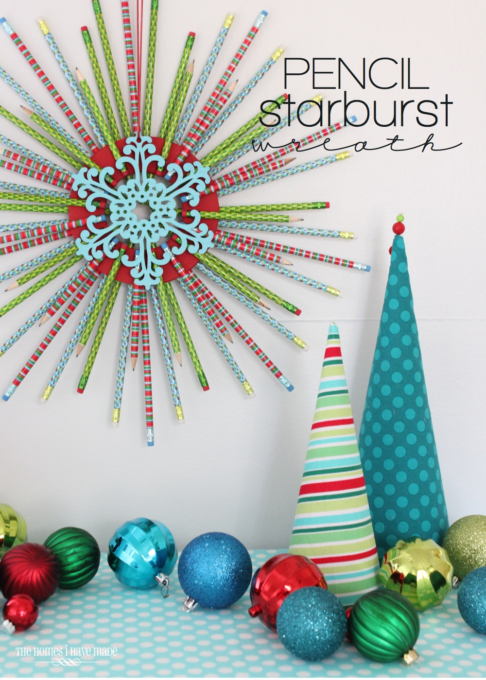 Pencil Starburst Wreath-001