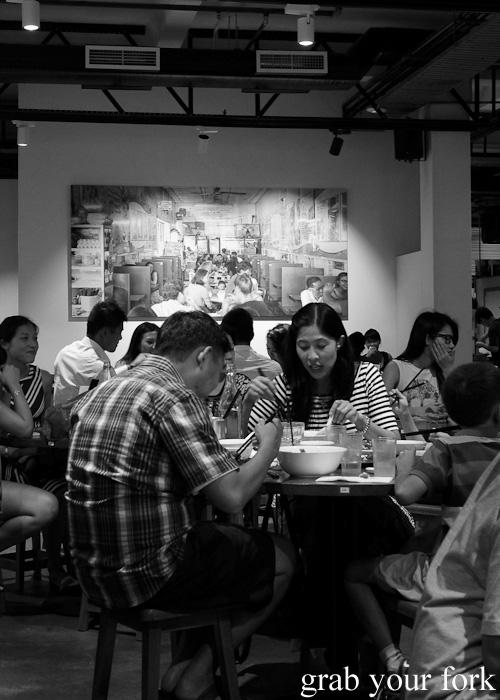 Diners at Hawker Malaysian, Sydney