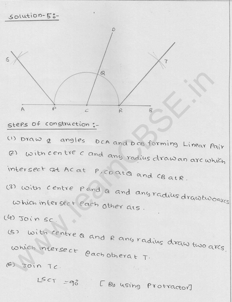 RD Sharma Class 9 solutions Chapter 17 Constructions Ex 17.2 Q 5