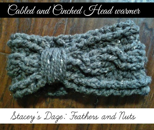 Cabled and Cinched Head warmer 3