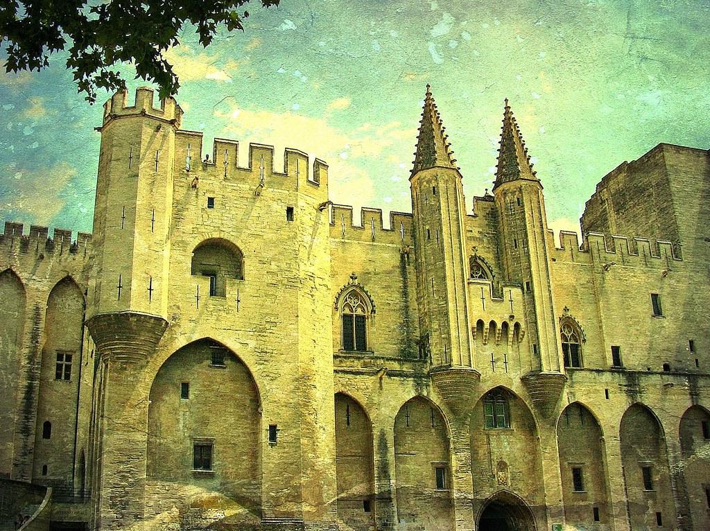 FRANCE - Provence, Avignon, Blick auf den Papst-Palast, Frontfassade,  12350/4567