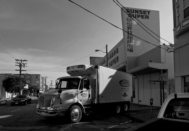 Sunset Super and Yosemite Meat Co, Irving St; The Sunset, San Francisco (2015)
