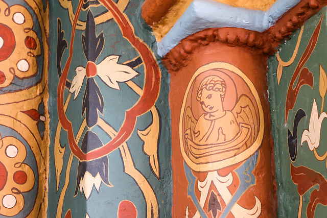 Painted decoration in Convent of Intercession, Suzdal, Russia スズダリ、ポクロフスキー修道院の聖堂の装飾