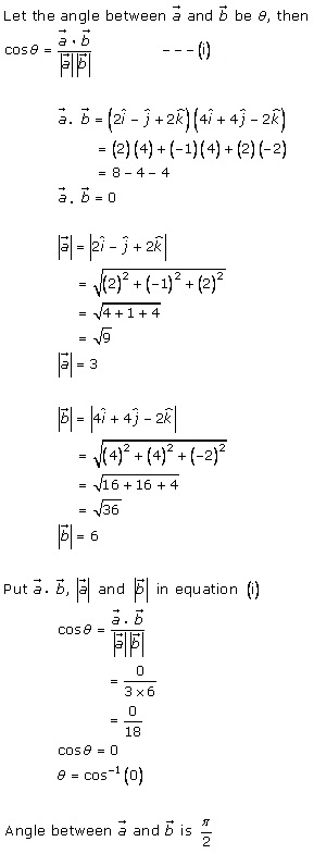 RD Sharma Class 12 Solutions Chapter 24 Scalar or Dot Product Ex 24.1 Q5-iii