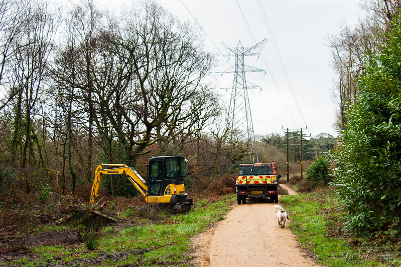 Clearance work along the new path