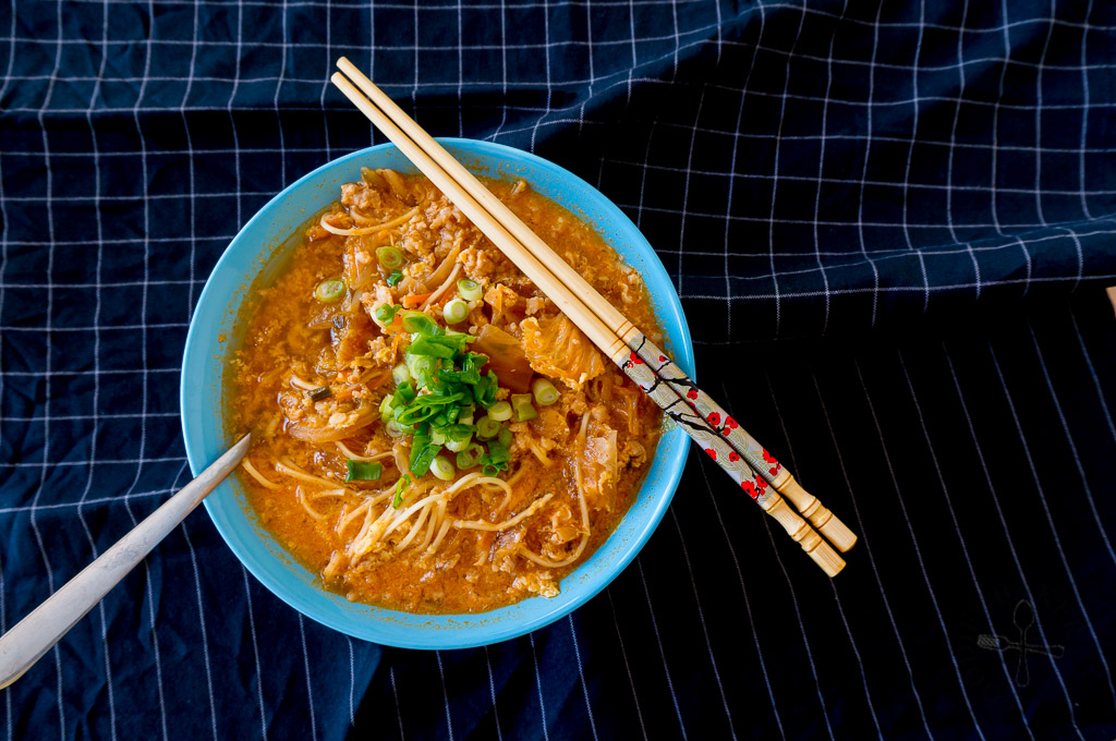 Quick, Easy and Healthy Kimchi Ramen