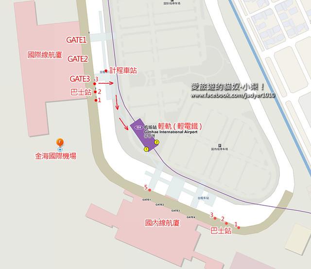 金海機場客運站地圖
