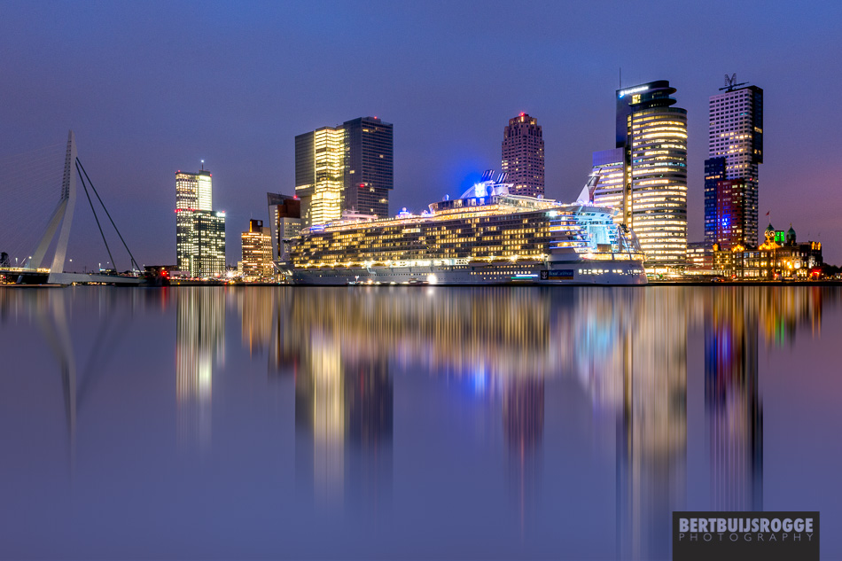Oasis of the Seas docked in Rotterdam Harbour