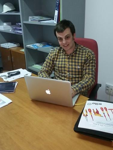Sergio García, nuevo emprendedor del Vivero de Empresas Génesis