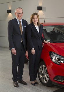 Mary Barra visits Opel in Rüsselsheim
