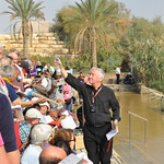 Cardinal Vincent blesses the people with water from the Jordan