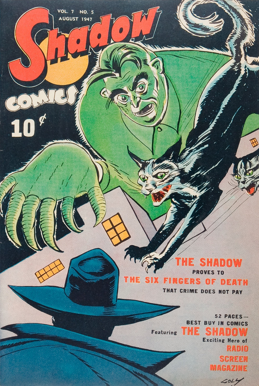 Shadow Comics V7#5 (Street & Smith, 1947) Charles Coll Cover