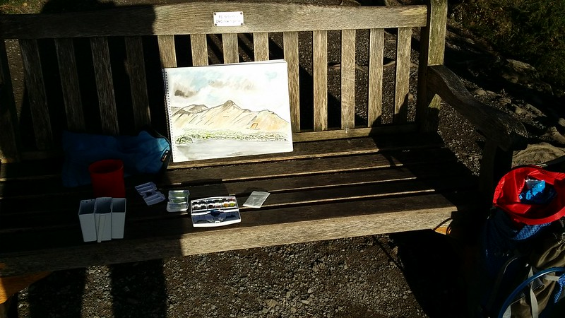 Painting at Friar's Crag