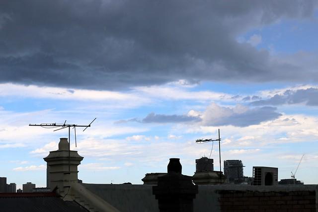 Storm heads east over Haymarket