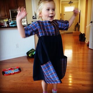 The Sally Dress. Made for Christmas.
