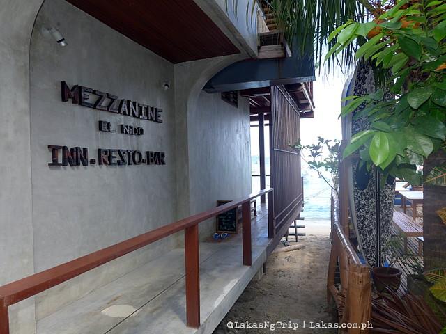 Entrance to Mezzanine Restobar at El Nido, Palawan, Philippines