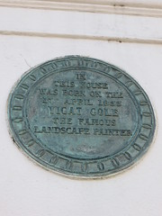 Photo of George Vicat Cole bronze plaque