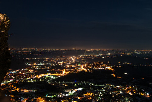 panorama night landscape lights san sanmarino view rimini luci notte marino