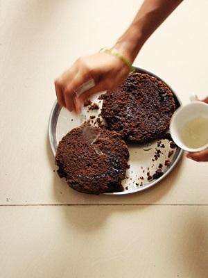Eggless Black Forest Cake Using Idli Cooker