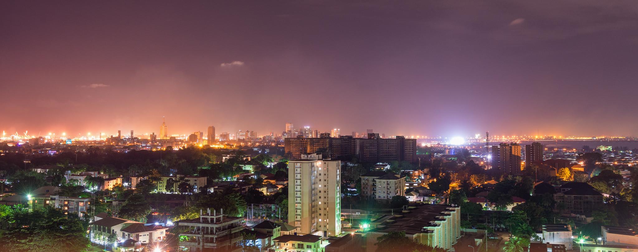 Lagos Night Panorama