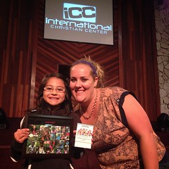 Maelani receiving pictures of all the children in Zimbabwe wearing bracelets she made for them. ICC believes in Missions!