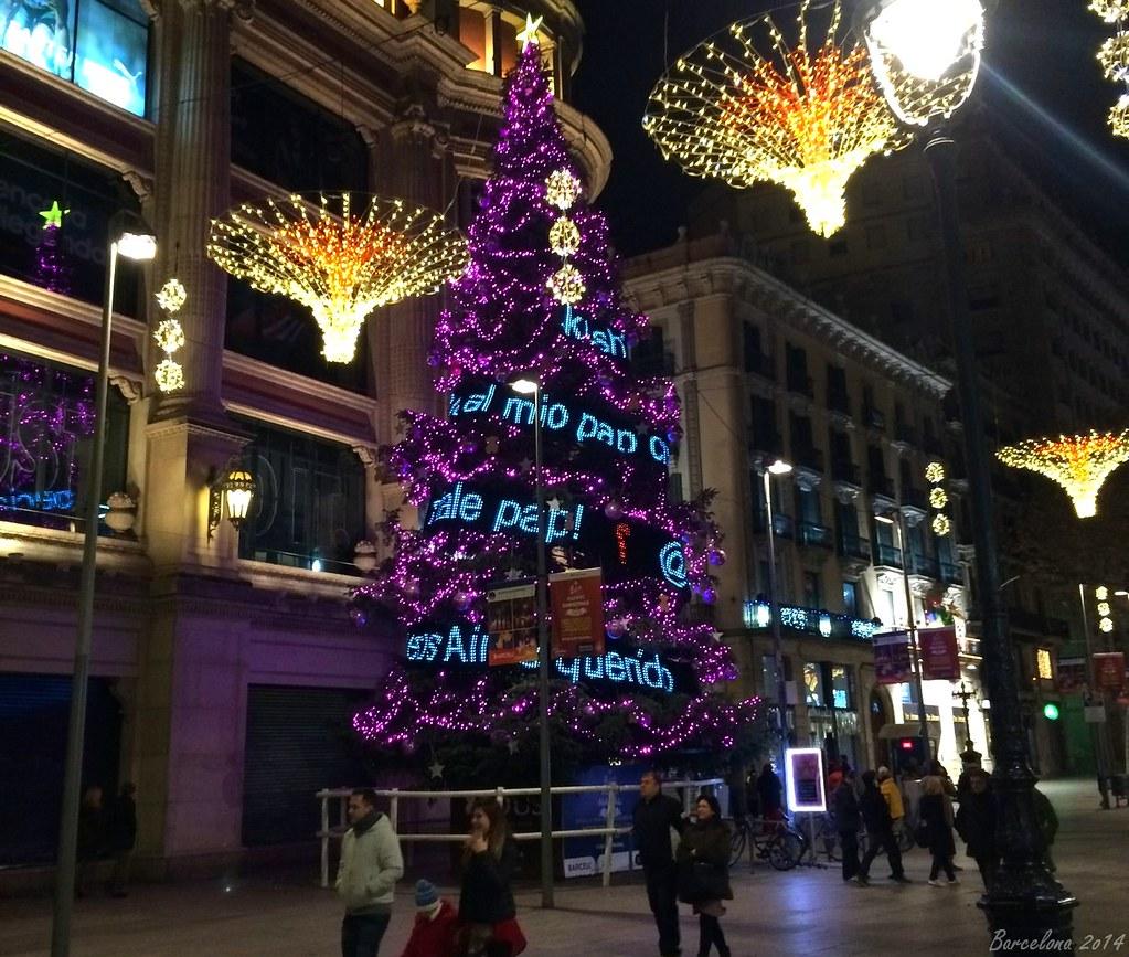 Barcelona day_3, Bon Nadal, Avinguda Portal de l;Àngel