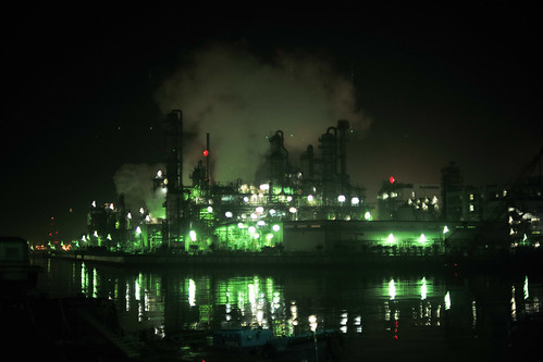川崎工場夜景-2