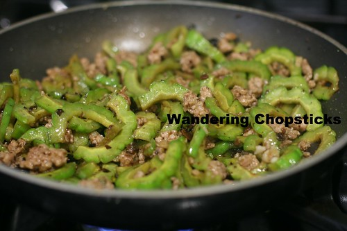Chinese Bitter Melon Stir-Fry with Ground Pork and Black Bean Sauce 8