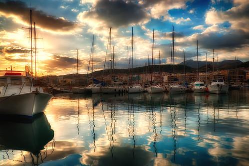 sea sky reflection clouds marina sunrise crete yachts rethymno κρήτη σύννεφα θάλασσα ανατολή αντανάκλαση ρέθυμνο ουρανόσ μαρίνα ιστιοφόρα