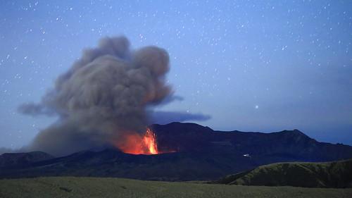 Mt. Aso eruption
