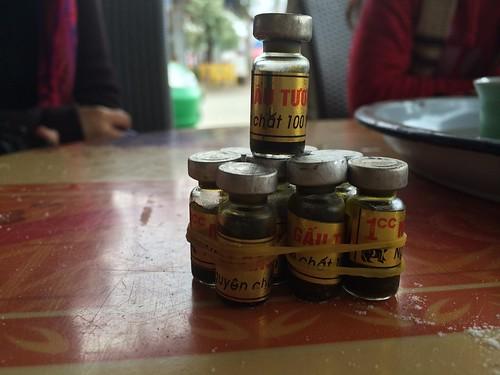 Bear bile bottles