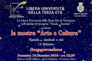 Noicattaro. Mostra Natale LUTE front
