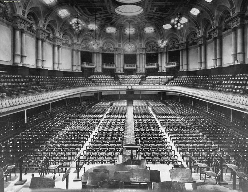Free Trade Hall auditorium, 1925