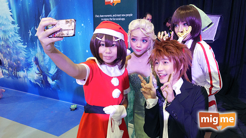The three winners were really popular and lots of cosplayers approached them to take photos