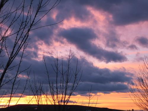 sunset sky canada clouds bc cloudy okanagan columbia british kelowna